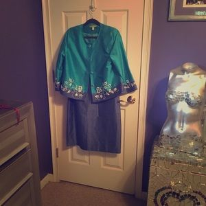 Sigrid Olsen dress with matching Jacket.